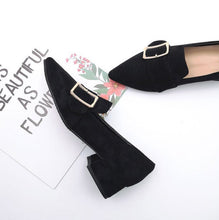 Small Size Block Low Heel Loafers SS328