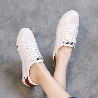 Small Size Breathable Leather Sneakers SS389