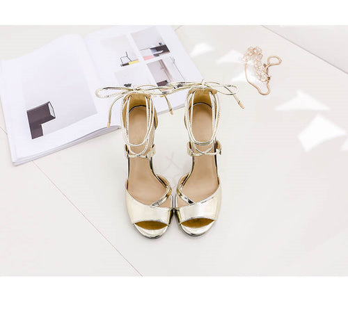 Small Size Bridesmaid High Heels Sandals US 2-CINDY  GOLD