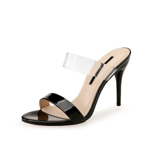 Small Size Clear Strap Heeled Sandals AP215