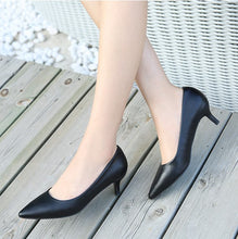 Small Size Low Heel Work Pump Shoes SS132