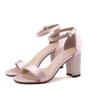 Small Size Mid Chunky Heel Dress Sandal Shoes SS105
