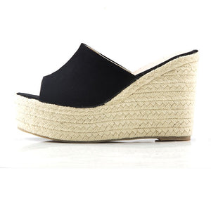 Small Size Peep Slip On Wedge Sandals SS275