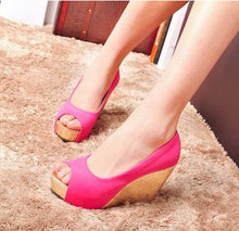 Small Size Peep Wedge Heels SS309