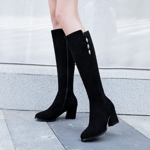 Small Size Side Zipper Long Boots AP165