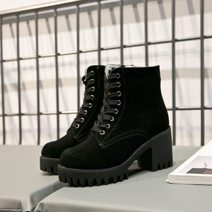 Small Size Thick Sole Martin Boots AP52