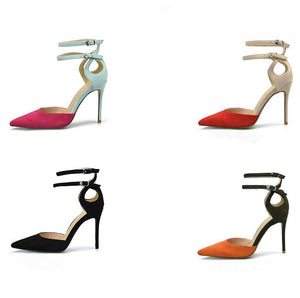 Small Size Ankle Strap Two-tone Sandals For Adults SS317