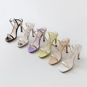 Small Size Womens One Strap Prom Sandals For Petite Feet SS112