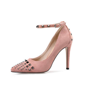 Small Women Heel Pumps Chicago Size 1-EMILY PINK