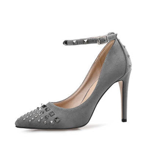 Small Women Heel Pumps Chicago Size 2-EMILY GREY
