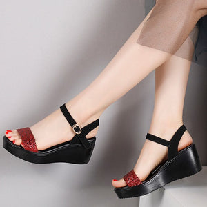 Small Size Wedge Heels For Women BS319