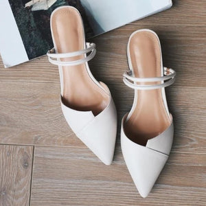 White Block Low Heel Sandals Sale US1.5(eu31)