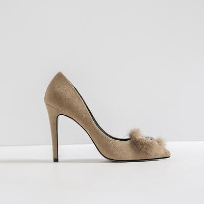 Women Small Feet Heels US 1 Philadelphia-BARBARA BEIGE