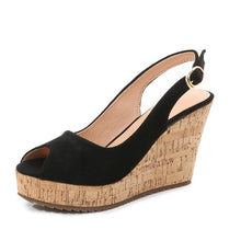 Peep Wedge Shoes US3(eu33) For Sale