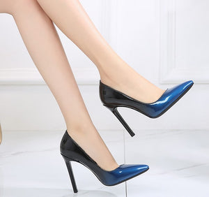 Women's Large Size Pointed Toe Patent High Heels BS23