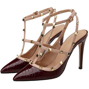 Women's Little Feet Rockstud Heeled Strappy Dress Sandals AS296