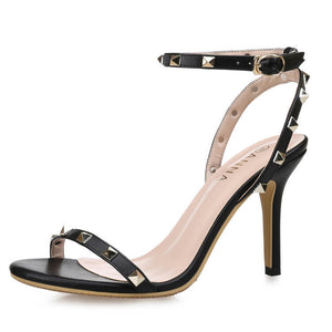 Women's Open Toe Studded One Strap Heel Sandals Petite Size 4