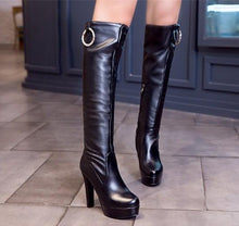 Petite Feet Platform Knee High Winter Long Boots AS158