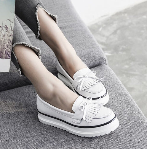 Women's Petite Size 33 Thick Sole Fashion Sneakers