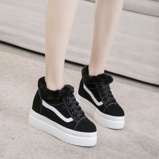 Petite Size Suede Leather Sneakers AP207