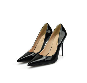 Women's Pointed Toe Large Size Patent Pump Shoes(6/8/10cm) BS18
