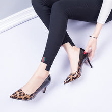 Small Size Pointed Toe Pony Hair Patent Dress Pumps AS219