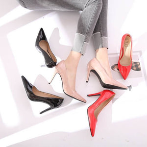 Women's Pointy Small Size High Heel Patent Dress Pumps For Petite Feet Lady