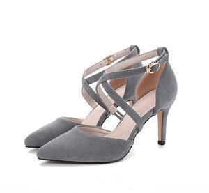 Cross Strap Heeled Sandal  US1.5(eu31) For Sale