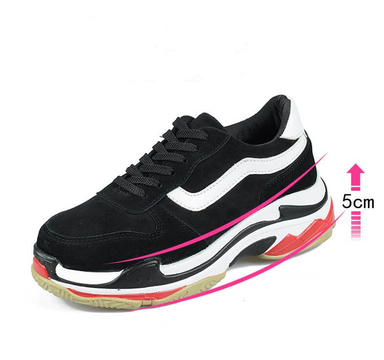 Women's Small Size Thick Sole Height Increase Sneakers
