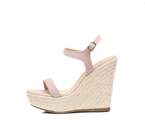 Women's Small Size Open Toe One Strap Wedge Shoes SS23