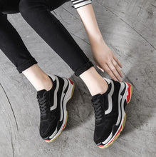 Women's Thick Sole Height Increase Sneakers Adult EU Size 32 33 34