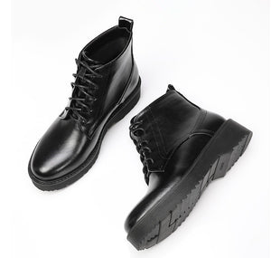 Women's Thick Sole Platform Lace Up Boots Size 2