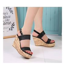 Women's Wedges Sandals High Platform Open Toe Ankle Strap Shoes for Petite Feet size 1