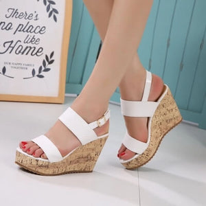 Women's Wedges Sandals High Platform Open Toe Ankle Strap Shoes for Petite Feet size 2