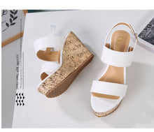Women's Wedges Sandals High Platform Open Toe Ankle Strap Shoes for Petite Feet size 3