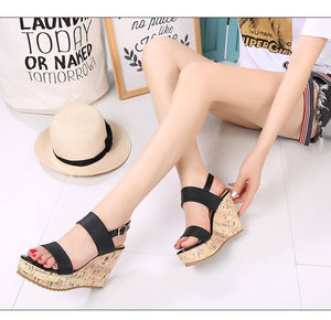 Women's Wedges Sandals High Platform Open Toe Ankle Strap Shoes for Petite Feet size 4