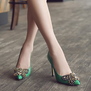 Petite Size Rockstud Dress Heel Pumps SS256