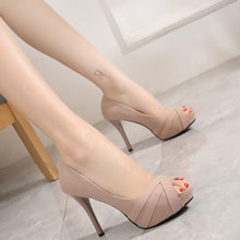 Small Size High Heels Peep Platform Shoes SS185