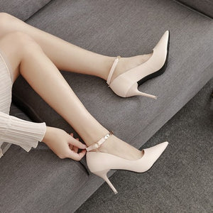 Ankle Strap Heel Pumps US3(eu33) For Sale