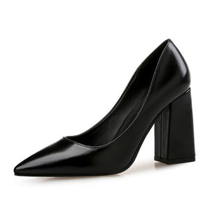 Chunky Heel Pump Shoes Sale Black US2(eu32)