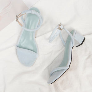 Womens Small Size Block Heel Sandals SS156