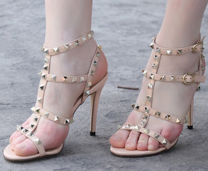 Womens Small Size Sandals Rockstud Strappy Heels SS138