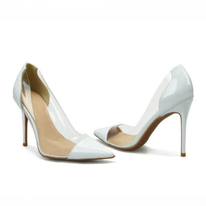 Womens Small Size Clear Heels Pumps SS318