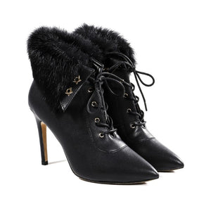 Petite Feet Small Size High Heeled Boots AP163