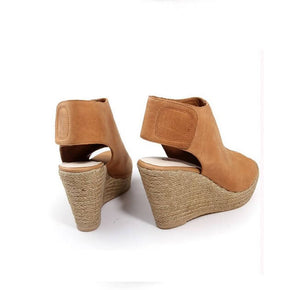 Womens Small Size Peep Wedge Sandals Size 3-SILVIA
