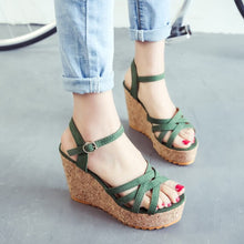 Womens Small Size Petite Feet Wedge Heel Ankle Strap Sandals US 1