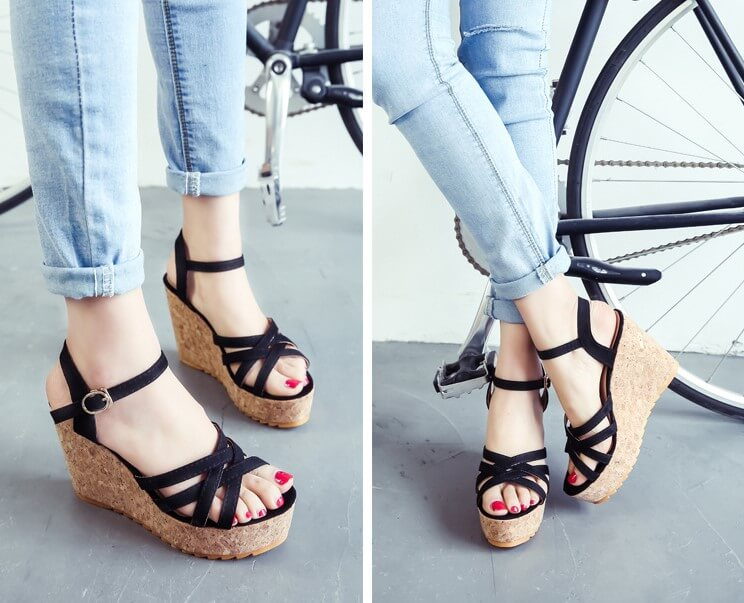 94c8d0ed519 Small Size Wedge Heel Ankle Strap Sandals Tracy - AstarShoes
