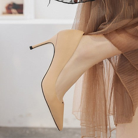Pointy Heel Pumps Sale Tan US4(EU34)