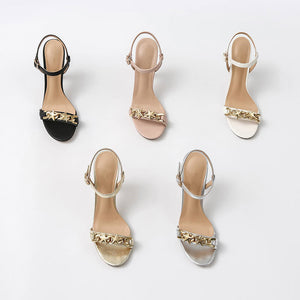 Petite Size One Strap Jeweled Sandals Vivia