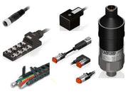 Electrical connectors, moulded leads, M8, M12, Pressure switch, transmitter, energy chain, deutsch connector